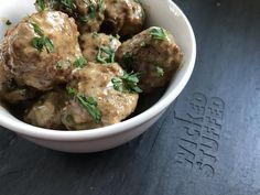 Keto swedish meatballs 2 lbs ground meatloaf blend (or 1 lb ground beef and Ketogenic Recipes, Low Carb Recipes, Healthy Recipes, Easy Chicken Recipes, Beef Recipes, Meatballs And Gravy, Slow Cooker Soup, Dinner Sides, Entree Recipes