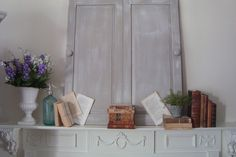 Cottage sytle home tour in Atlanta - Debbiedoos  When they got rid of their old tv armoire, she kept the doors!