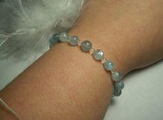 Blue aquamarine bracelet by JinxyJewels on Etsy, $7.00