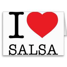 I ♥ SALSA Greeting Card. $5.75 #Salsa #Dance #LatinAmerica #Postcard