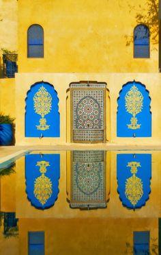 Yves Saint Laurent's favorite Moroccan spot: Les Jardins Majorelle in Marrakesh.