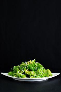 Mustard Greens Salad   bsinthekitchen.com #salad #dinner #bsinthekitchen