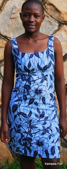 African print dress.  I love the look of this young woman.  She has the hairstyle I like best.  Simple, natural.
