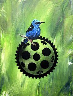 Zahnrad - by Günter Pusch - Oil, acrylic spray on canvas Acrylic Spray, Sculptures, Brooch, Oil, Canvas, Painting, Jewelry, Painting Art, Kunst