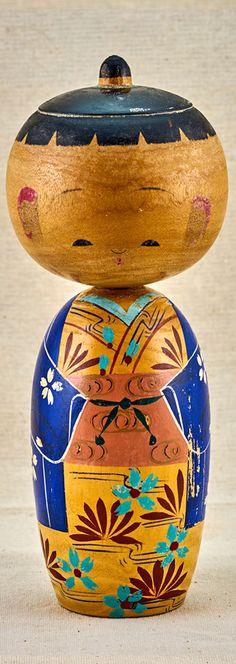Blue vintage  kokeshi