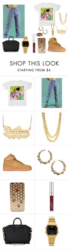 """Dragon Ball Z"" by imanifashions ❤ liked on Polyvore featuring Lee, NIKE, Givenchy, Casio and Cartier"