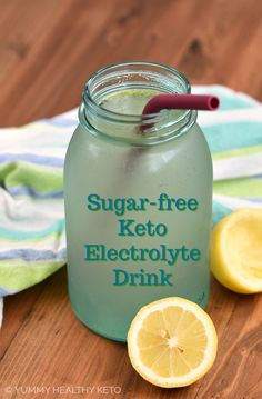 Correct an electrolyte imbalance and eliminate the effects of Keto Flu with this all-natural Keto Electrolyte Drink that is easy to make and sugar-free. Homemade Electrolyte Drink, Homemade Gatorade, Keto Electrolytes, Natural Electrolytes, Sugar Free Gatorade, Sugar Free Drinks, Fruit Infused Water, Infused Waters, Keto Flu