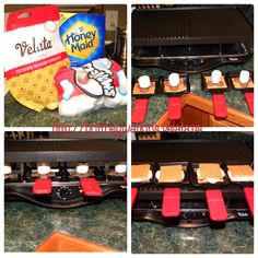 S'mores made with Velata Chocolate using the Velata Raclette.                           http://ericajohnson.velata.us