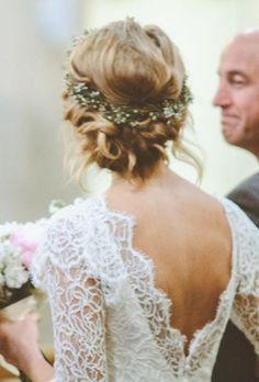 Weddbook ♥ Low Bun with Flower Crown - stunning boho bride
