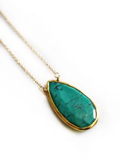 TURQUOISE drop necklace by keijewelry on Etsy, $52.00
