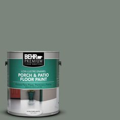 BEHR Premium 1 gal. #N410-5 Village Green Low-Lustre Porch and Patio Floor Paint