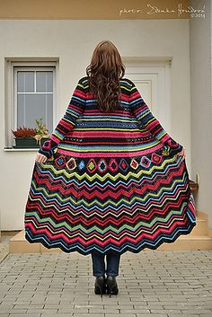 Ravelry: Coat Maxi Psychedelic pattern by Fashion Martina