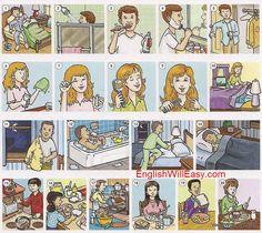 Verbos reflexivos reflexive verbs daily routine rutina diaria