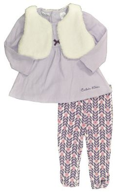Calvin Klein Infant Girls Lavender 3Pc Legging « how cute with with baby uggs