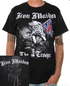 Click for Full Size Image of Iron Maiden, T-Shirt, Trooper Sketch