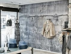 Betonlook behang verf - industrieel interieur