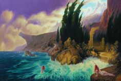 """""""Land Of The Storm Nymphs"""". An homage to Victorian painters like Bocklin and Keller. Oil on linen 30"""" x 20"""""""