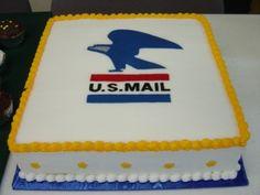 USPS Eagle Emblem Retirement Cake By JayLeeW on CakeCentral.com