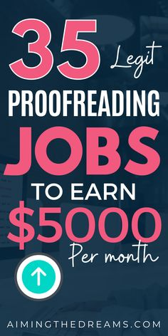 35 legitimate proofreading jobs online for beginners. Proofreading can become your best side hustle if you have skills required to become a proofreader. Find out how to stsart proofreading jobs online to make money online. Pick errors by learning from proofread anywhere and work from home Work From Home Jobs, Legitimate Work From Home, Make Money From Home, Work From Home Opportunities, Make Money Online, How To Make Money, How To Become, Online Jobs, Online Blog