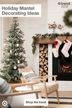 This winter Hearth and Hand with Magnolia collection embraces all the nostalgia I love about the holidays. It's out now in stores and… Christmas Mantels, Noel Christmas, All Things Christmas, Christmas Fireplace, White Christmas, Christmas Stockings, Christmas Ideas, Christmas Wreaths, Farmhouse Christmas Decor