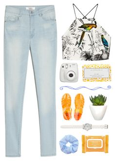 """Tags!"" by simsga ❤ liked on Polyvore featuring Milly, MANGO, Lollia, Pomax, Ole Henriksen and LOFT"