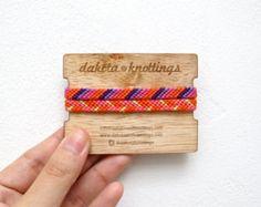 Bracelet damitié Bracelet tissé Bracelet par DakotaAndKnottings