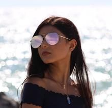 Buy California Gold Flat Top Lens Mirror Aviation Sunglasses Women Stylish Sun Glasses only at Galaxyswap.com - Your Online Fashion Jewelry Shop! Round Sunglasses, Mirrored Sunglasses, Sunglasses Women, Jewelry Shop, Fashion Jewelry, Gold Flats, Fashion Online, Lens, Stylish