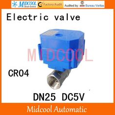 """27.19$  Watch now - http://aliv30.shopchina.info/1/go.php?t=1000001497541 - """"Stainless steel Motorized Ball Valve 1"""""""" DN25 Water control Angle valve DC5V electrical ball (two-way) valve wires CR-04"""" 27.19$ #buyininternet"""