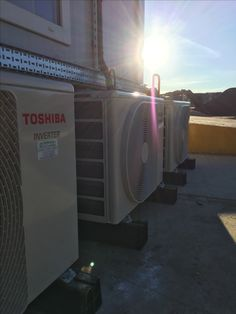 We think our engineers did a great job installing #Toshiba #SplitSystem #AirCon units on this challenging site. Looks a treat, well done team! www.hertfordshireaircon.co.uk