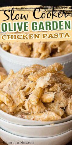 Chicken Pasta Crockpot, Chicken Pasta Recipes, Pasta Recipes Crockpot, Crock Pot Pasta, Chicken Pasta Casserole, Slow Cooker Creamy Chicken, Slow Cooker Pasta, Dinner Crockpot, Baked Chicken