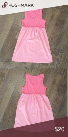 Pink J. Crew Tank Sundress This pinkish/coral J. Crew tank dress is the perfect Summer dress to have in your closet, just throw on a pair of cute sandals and you are good to go! J. Crew Dresses Midi