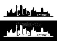 Liverpool Skyline, Liverpool Home, Skyline Silhouette, Silhouette Vector, Skyline Art, Diy Wood Projects, Jar Crafts, Art Club, Vector Art