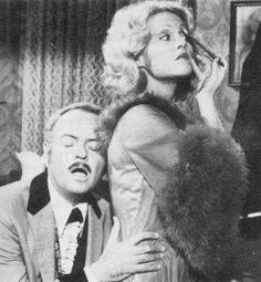 "Harvey Korman and Madeline Kahn in Mel Brooks' ""Blazing Saddles"", as Hedley Lamarr and Lily Von Schtup, respectively. Madeline Kahn, Harvey Korman, Katharine Ross, Young Frankenstein, Carol Burnett, Ann Margret, About Time Movie, Old Movies, Funny People"