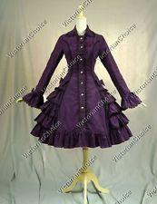 Victorian Gothic Lolita Dress Coat Steampunk Reenactment Theatre Costume C019 M