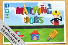 Matching Jobs ($0.00) an educational game by Tots Publishing that helps kids aged 3-6 years learn the names of different jobs and the vehicles or tools each profession uses and where they work. Your little ones will learn by matching each of the occupations with their respective vehicles, places of work as well as the tools they use. Some of the jobs included in this entertaining and educational application are policeman, fire fighter, soldier, bus driver and many more.* In-app purchase…