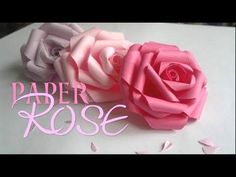 DIY PAPER ROSE! - YouTube