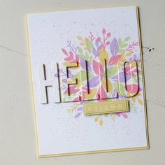 A Sunny Hello! #cardmaking #handmadecards #cards #cardmaker #stamping #stamps #diecutting #papercraft #papercrafting #handmade #diecut… Making Greeting Cards, Greeting Cards Handmade, Die Cut, Cricut Cards, Friendship Cards, Marianne Design, Card Making Techniques, Stamping Up Cards, Cool Cards
