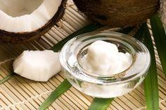 pulire il viso gel con l'olio di cocco