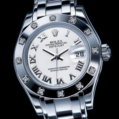 The Rolex Ladies' DateJust Pearl Master. Honestly, the first women's watch I've been interested in, in a long time.