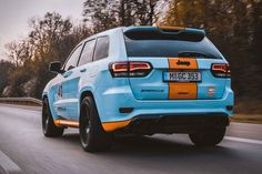 The Gulf Oil livery is one of the most iconic paint schemes in the history of racing, most notably on the Ford Porsche Srt Jeep, Jeep Grand Cherokee Srt, Sport Suv, Hemi Engine, Mclaren F1, Alfa Romeo Cars, Ford Gt40, Bmw Series, Chrysler Jeep
