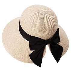 d35290a36a9 New Siggi Womens Floppy Summer Sun Beach Straw Hat UPF50 Foldable Wide Brim  55-60cm
