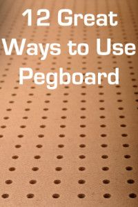 There are a million uses for pegboard- Pegboard is amazing and I kind of love it:)! It is really great for organization!