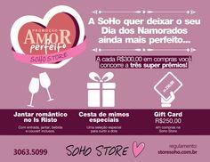 Amor Perfeito - Prêmios SoHo Store www.storesoho.com.br