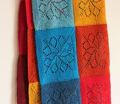 Vivid blanket pattern by Emily Wessel (knitting, in-the-round, seamed, lace, tincanknits)