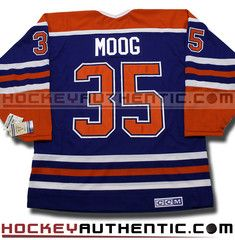 Andy Moog Edmonton Oilers CCM vintage jersey | Hockey Authentic