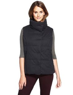 M Collection Funnel Neck Padded Gilet - Marks & Spencer (By Meredith Kemp-Ghani for Stuart Peters Ltd. )