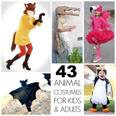 43 really awesome Homemade animal costumes for kids and adults!