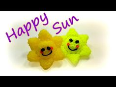 Happy Sun Tutorial by feelinspiffy Rainbow Loom - YouTube