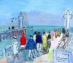 Raoul Dufy (France The Jetties of Trouville-Deauville oil on canvas x cm Art Fauvisme, Lawrence Lee, Glasgow Museum, Painters Studio, Equestrian Statue, Raoul Dufy, Art Nouveau, Art Gallery, Art Folder