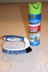 Cleaning Tile Grout with Carpet Cleaner {Pinterest Tested} Just tried this - it really works! After the woolite soaks, the grout still appears dirty, but once you start scrubbing the grime just lifts right off!